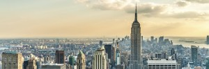 New York City Skyline featuring the Empire State Building